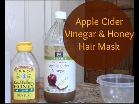 Damaged Hair Mask : Apple Cider Vinegar & Honey - YouTube