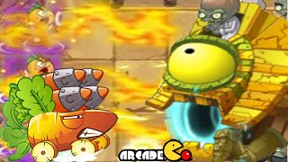 Plants Vs Zombies 2: All Boss Battle With Level Up New Plants New Zombies