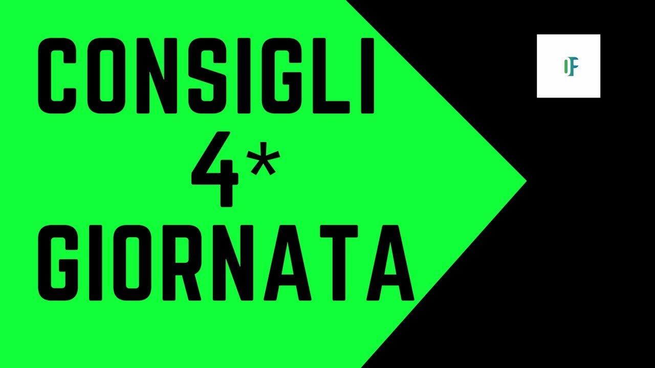 Consigli 4 Giornata Campionato Di Serie A 2017 2018