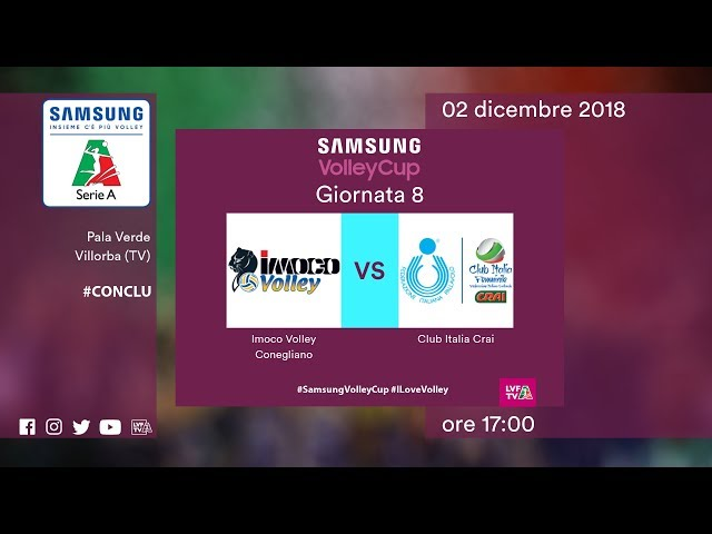 Conegliano - Club Italia   Speciale   8^ Giornata   Samsung Volley Cup 2018/19