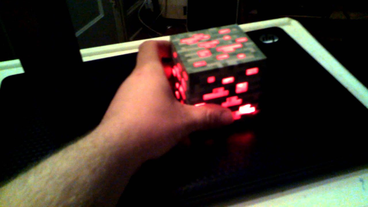 My Think Geek Minecraft Torch And Red Stone Ore Youtube