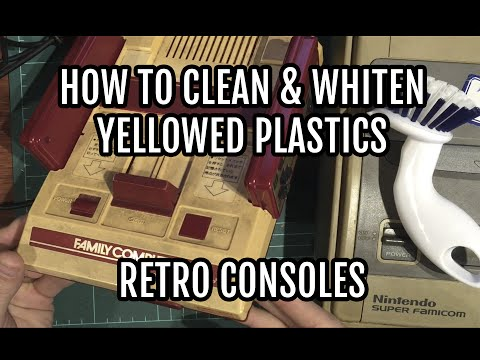 How to Clean & Whiten Yellowed Plastics on Retro Consoles