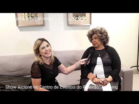 Entrevista com a cantora Alcione, a Marrom. Ela fez show em Ribeirão Preto