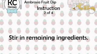 Ambrosia Fruit Dip - Kitchen Cat