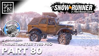 SNOWRUNNER CZ | Bitva na ledu - #80 + Thrustmaster T150 PRO  | Lets play | Česky