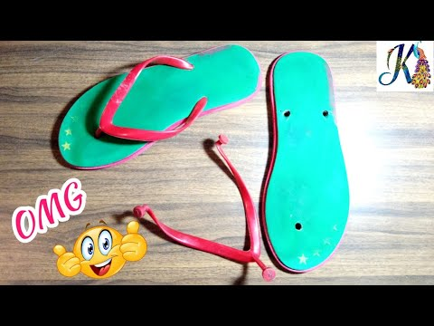 Waste material craft Idea | Best out of waste | DIY arts and crafts | cool craft idea |reuse slipper