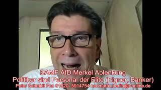 BAMF AfD Merkel sind Ablenkungen von den Eliten Peter Schmidt 04.06.2018