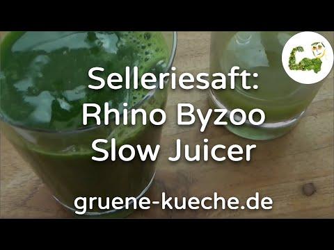 Rhino Byzoo Slow Juicer - Sellerie entsaften (Teil 2/5)