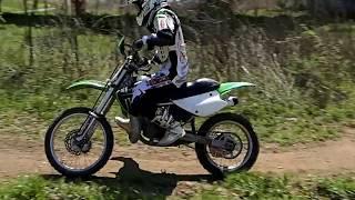 Kawasaki KX85 ミニコース ブレーキターン 170416