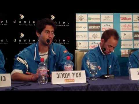 Davis Cup (vs. Portugal) - Israeli National team press conference 1.4.12