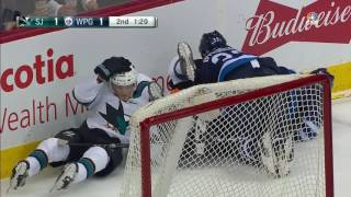 Dustin Byfuglien Hit Three Guys at Once | March 6, 3017