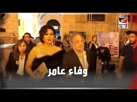 وفاء عامر تُرسل القبلات في ختام مهرجان الإسكندرية السينمائي  - 21:54-2019 / 10 / 13