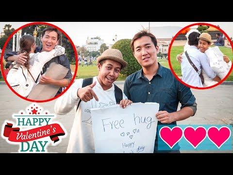 FREE HUG IN PHNOM PENH ( Happy Valentine's day ) 2019