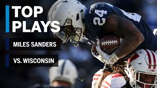 Top Plays; Miles Sanders Highlights vs. Wisconsin Badgers | Penn State | Big Ten Football
