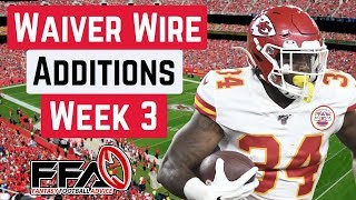 Top Waiver Wire Targets - Week 3 - 2019 Fantasy Football Advice
