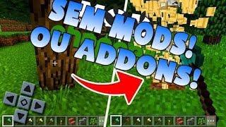 COMO QUEBRAR UMA ÁRVORE EM SEGUNDOS ! [Sem Mods] ! Minecraft Pe 1.2.8