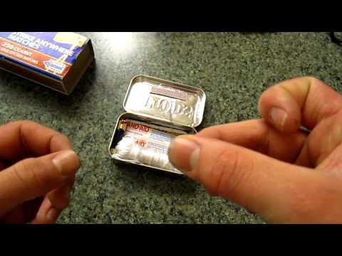 The few necessary items for any altoid  survival tin.