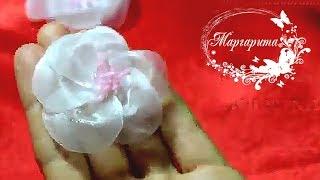 ЦВЕТЫ ИЗ ОРГАНЗЫ????DIY Kanzashi Organza flowers