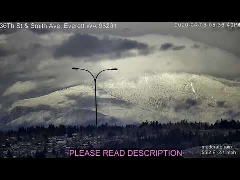 Everett, WA Amazing Cam View On Mountains ... Smith Ave (Formerly Tweaker Cam)