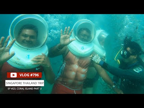 We Went For A Walk Under The Sea !! Under Sea Walking In Coral Island, Pattaya, EP #23