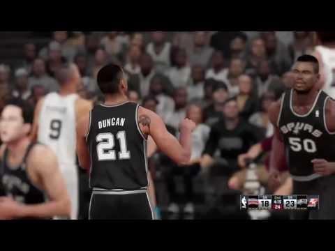 NBA 2K16 Tim Duncan Tribute (2015-2016 San Antonio Spurs vs 1990-1991 San Antonio Spurs)