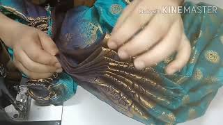 Saree stitching with plates complete process
