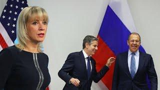 Украина в ПЕЧАЛИ! США снимают санкции: Захарова у Соловьева о встрече Лаврова и Блинкена