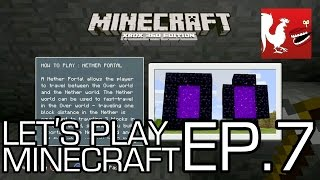 Let's Play Minecraft - Episode 7 - Enter the Nether Part 2 | Rooster Teeth thumbnail