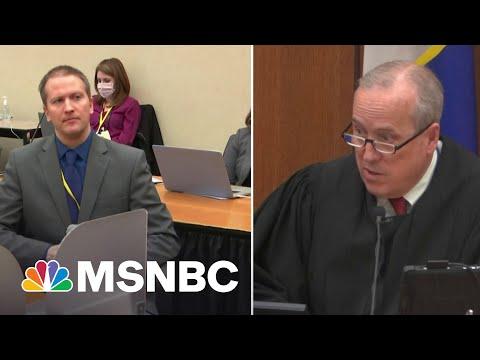 Derek Chauvin Tells Court He Will Not Testify In Trial, Invokes 5th Amendment Right   MSNBC