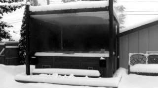 Covana Automated Hot Tub Enclosure, Gazebo, Cover In Action In The Snow