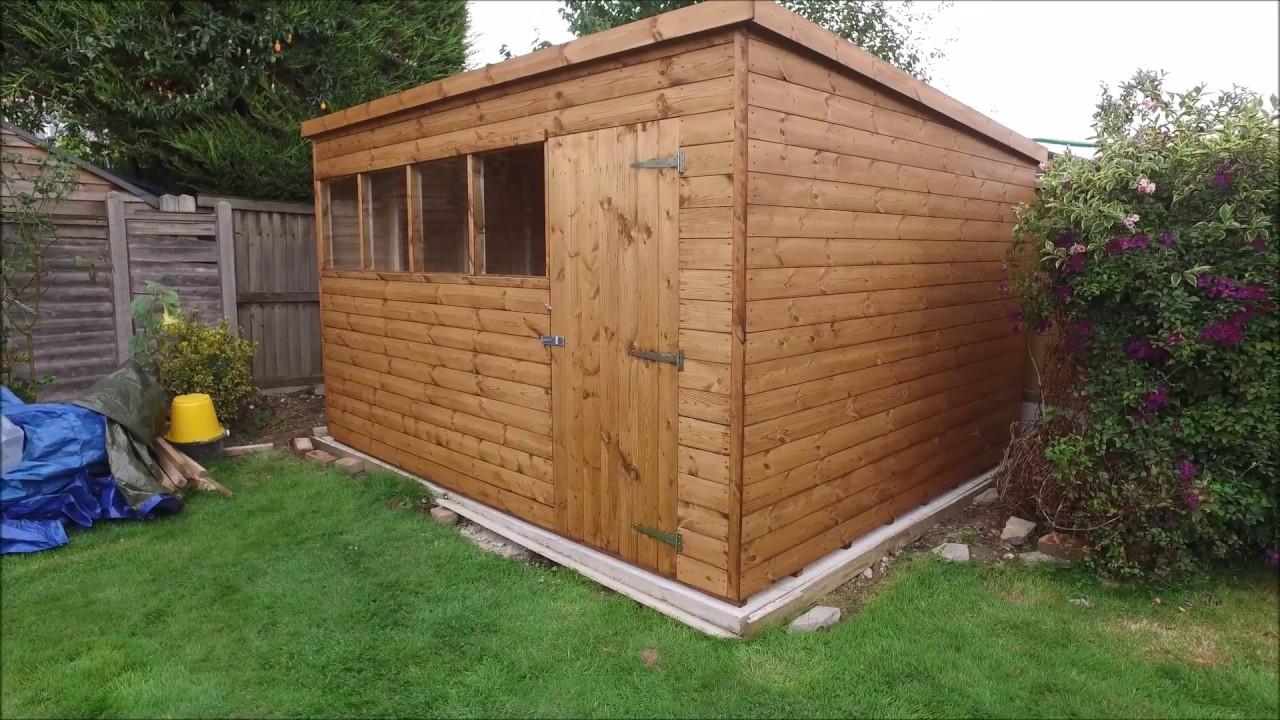 12 x 10 pent garden shed by gorilla garden sheds youtube