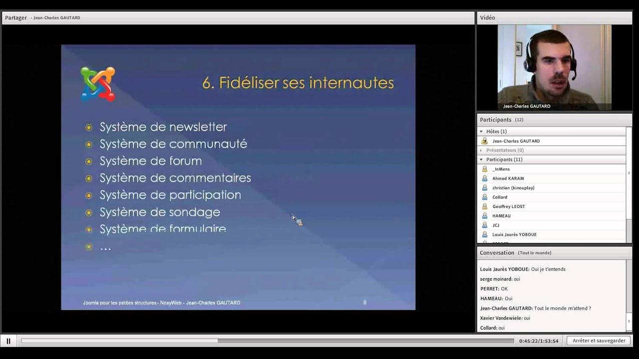 Pourquoi Joomla pour les petites entreprises - Conférence Web NosyWeb.fr