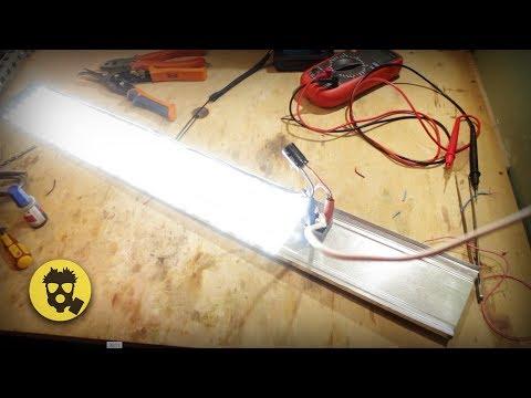 🔥 Светодиодный светильник на 80 ватт без блока питания своими руками.