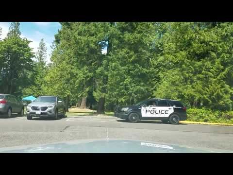 Steel Lake Park in Federal Way, Heavy Police presence on Sunday July 9th, 2017.