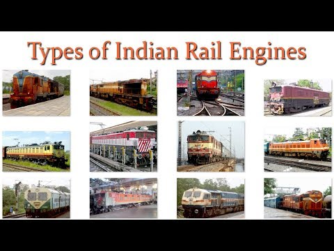 Types of Indian Rail Locomotives/Engines | Electric and Diesel Locomotives | Indian Railway