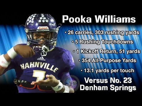 Pooka Williams gashes Denham Springs for 303 yards rushing w5 Touchdowns in LHSAA Playoffs