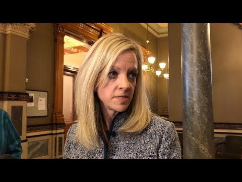 Sen. Janet Petersen reacts to Sen. Dix's resignation