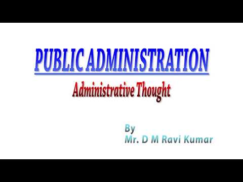 Administrative Thought - Taylor's Scientific Management