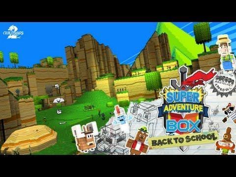 GW2 Super Adventure Box Back to School poradnik /guide  world 1 zone 1 2 3 ( komentarz pl )