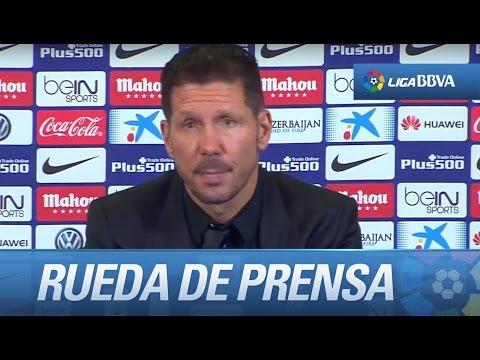 Rueda de prensa de Simeone tras el Atlético de Madrid (1-2) FC Barcelona