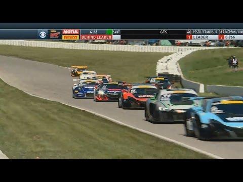 Pirelli World Challenge (SprintX) 2017. Race 1 Canadian Tire Motorsport Park. Last Laps