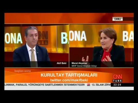 """Meral Akşener """"Bu Durumda """"Baş Paralel"""" Bahçeli Oluyor"""" - CNNTÜRK-15-04-2016"""