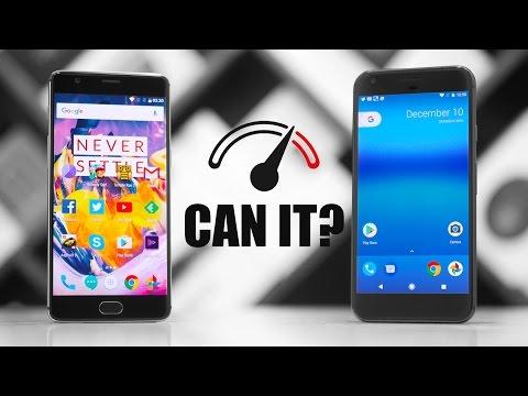 OnePlus 3T vs Google Pixel XL Speedtest Comparison