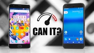 In this video we pit the Google Pixel XL against the new OnePlus 3T...
