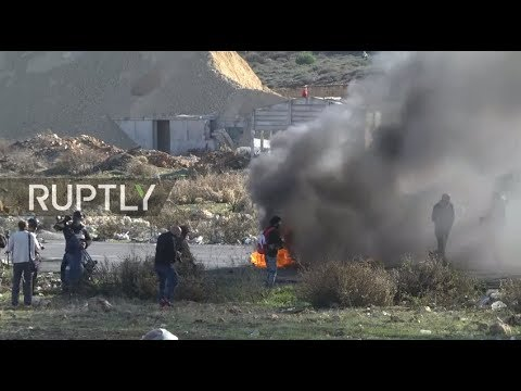 LIVE: Protests in West Bank against recognition of Jerusalem as Israel's capital by the US