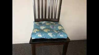 #diy Chair Pad With Tie | Chair Cushion | Tutorial