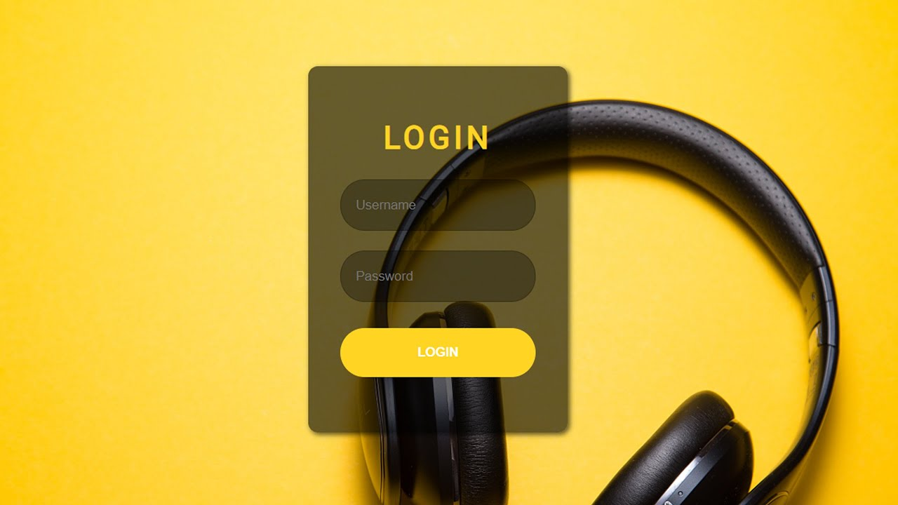 Music Login Form With HTML AND CSS