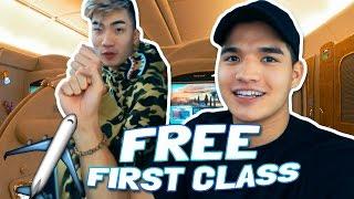 free first class flight