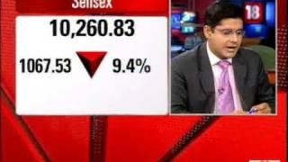 Sensex dips 1000 points