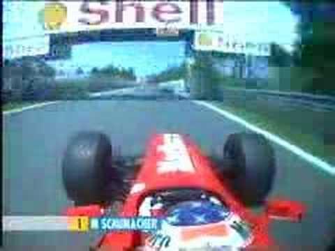 Michael Schumacher crash onboard Ferrari (Gp Canada 1999)